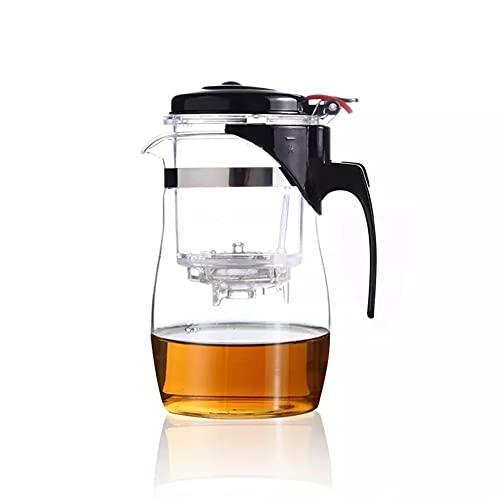 GLLP Teiera in Vetro Resistente al Calore Set da tè Cinese Bollitore Pu'er teiera in Vetro per caffè Comoda teiera da Ufficio con Filtro (Size : 900ML)
