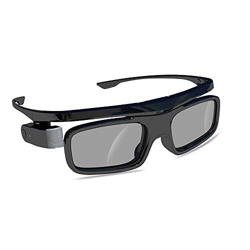 WOWOTO DLP Link 3D Glasses Rechargeable 3D Active Glasses for All DLP Projectors M5 T9