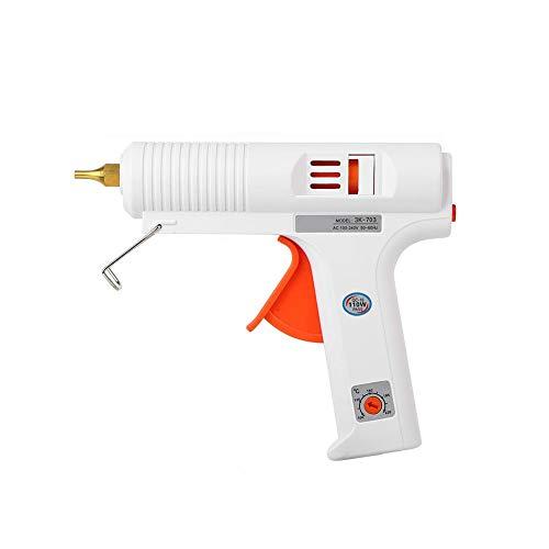 FTVOGUE Heißklebepistole, regulierbar, mit konstantem Temperaturregler, Flexibles Reparaturwerkzeug für DIY-Drucker und eine schnelle Reparatur 100 W Eu Plug (01)