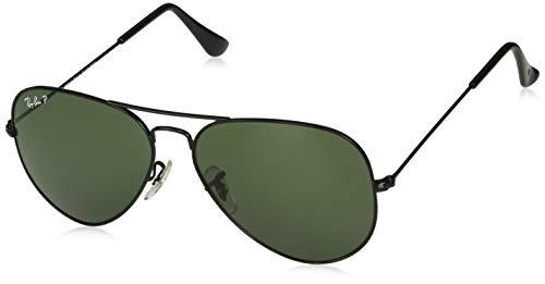 Ray-Ban- Gafas de Sol AVIATOR MOD, 002: Black, One Size