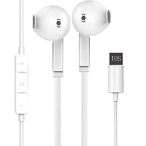 Auriculares con Cable Auriculares con Controles de Volumen y micrófono, Aislamiento de Ruido, Compatible con 11 Pro MAX/XS MAX/XR/X / 7/8/8 Plus y Play Disc Cleaner