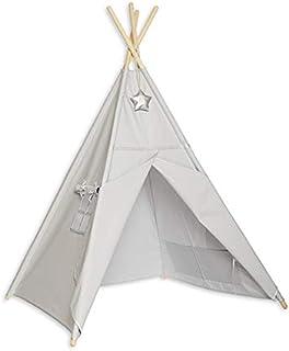 Kul med mamma TEE-TEN-SIL-GRE Tipi tält - silvergrå
