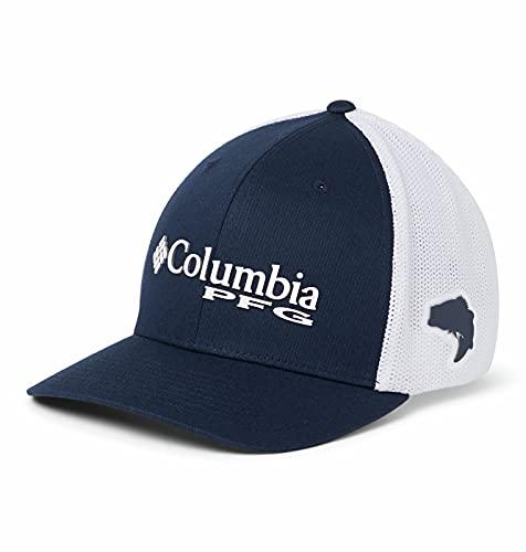 Columbia PFG Mesh Gorra Ajustada, Hombre, Azul (Collegiate...