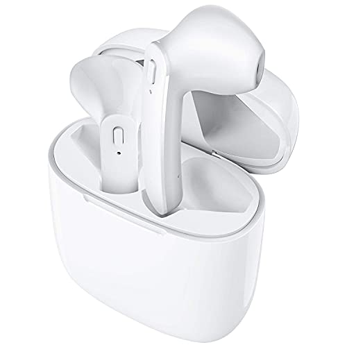 HST Enterprises Twins7s Truly Wireless Bluetooth In Ear Headset with Mic (Floral White)