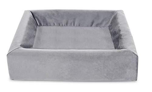 Bia bed royal fluweel overtrek hondenmand grijs BIA-50 60X50X12 CM