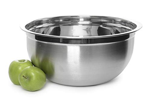Deep Professional Quality Stainless Steel Mixing Bowl For Serving, Mixing Cooking and or Baking, 1193