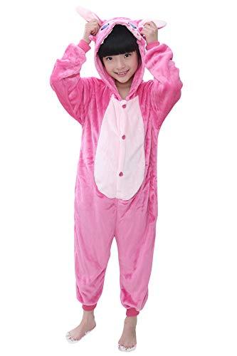 YAOMEI Niños Onesies Kigurumi Pijamas, Niña Traje Disfraz Capucha, Ropa de Dormir Halloween...