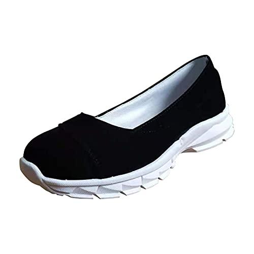URIBAKY - Zapatillas de running para mujer, con punta cerrada, zapatillas de deporte, running en carretera, al aire libre, correr, fitness, transpirables, zapatillas de deporte, Negro (Negro ), 39 EU