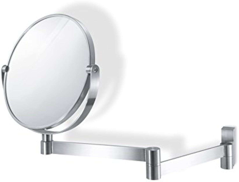 ZACK 40109  LINEA  Kosmetikspiegel rund, Edelstahl matt, Glas