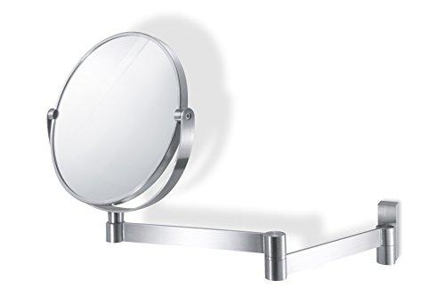 """ZACK 40109 """"LINEA"""" Kosmetikspiegel rund, Edelstahl matt, Glas"""