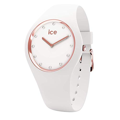 Ice-Watch - ICE cosmos White Rose-gold - Women's wristwatch with silicon strap - 016300 (Small)