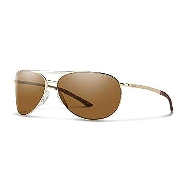 SMITH Serpico Slim 2 ChromaPop Polarized Sunglasses, Gold, Brown Lens