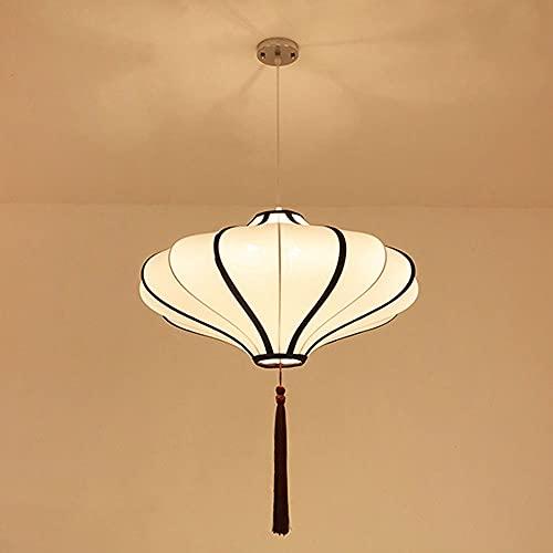 NAMFHZW - Lámpara de techo con pantalla de tela, lámpara de techo semiempotrada con cordón ajustable E27, lámpara colgante de 3 luces para pasillo de restaurante, iluminación decorativa