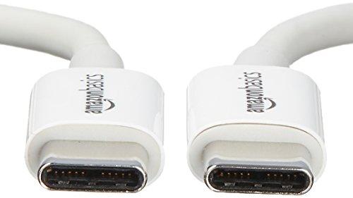 Amazon Basics - Verbindungskabel, USB Typ C auf USB Typ C, USB 2.0, 1,8 m, Weiß