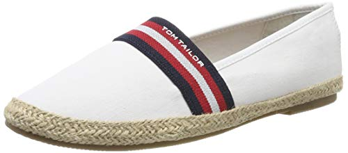 TOM TAILOR Damen 6992015 Espadrilles, Weiß (White 00002), 38 EU