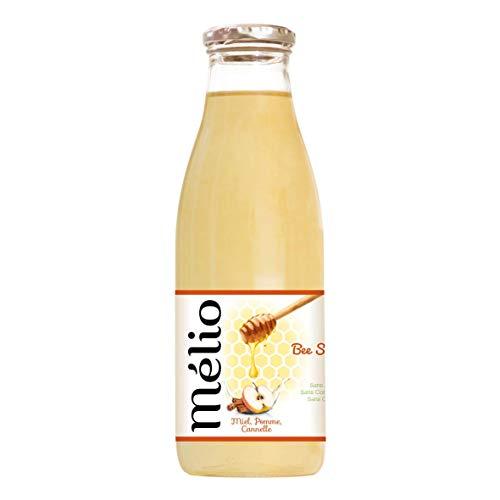 Bebida ecológica – Miel, Manzana, Canela - Infusión Bio Fría 100% Natural - con Cáscara de Canela Bio Jugo de Manzana Bio - Bebida sin Alcoho Aperitivo - 75cl Lote de 6 Botellas de Vidrio