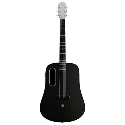 LAVA ME PRO - Guitarra eléctrica acústica profesional con efectos de fibra de carbono con funda y cable de carga (FreeBoost, gris espacial, 41 pulgadas)