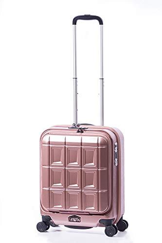 A.L.I アジアラゲージ ストッパータイプ スーツケース 機内持ち込み可能 PANTHEON (34L) PTS-5006 (ピンクゴールド)