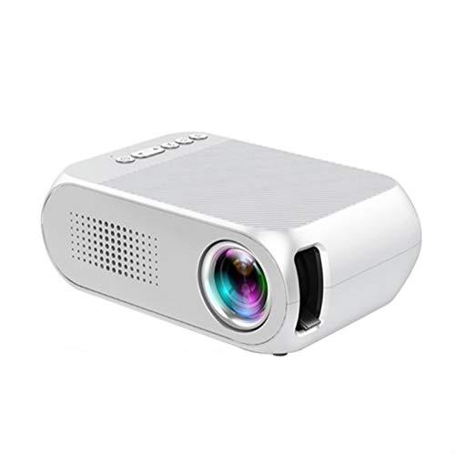Proyector Portátil Led Mini 600 Lumen 3.5Mm Soporte De Audio 1080P Reproducción En HD Hdmi USB Home Media Player Blanco