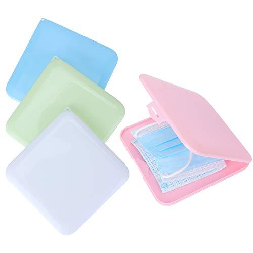 Sinwind Tragbare Masken Aufbewahrungsbox, 4 Stücke Staubmasken Aufbewahrungsbox zur Vermeidung von Maskenverschmutzung, Dient zum Aufbewahren von Einwegartikeln wie Masken