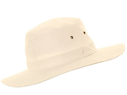 HDUK Summer Hats - Chapeau Blanc Coton Panama - Disponible en Tailles Small (58cm) Medium (59cm) Large (60cm) XL (61cm) 100% Coton Crickets - Blanc, M