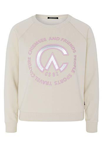 Chiemsee Sweatshirt mit lässiger Passform - GOTS-Zertifiziert XL White Sand