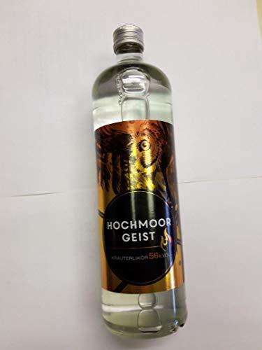 1 Flasche Hochmoorgeist Kräuterlikör a 700ml 56% Vol. brennt im Glas
