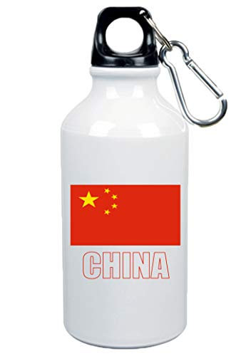 Typolitografie Ghisleri drinkfles China vlag 500 ml aluminium 42