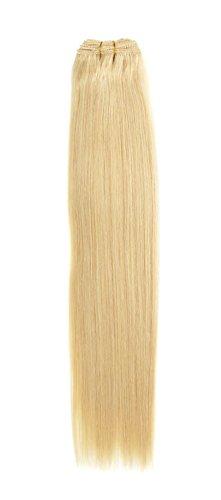Euro soyeux tissage | Extensions de cheveux humains | Blond 45,7 cm | Blondie (22) American Pride