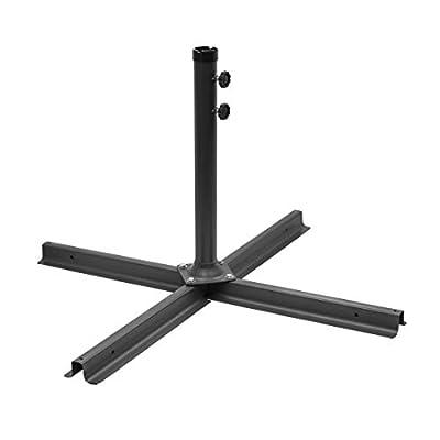 MISC Heavy Duty Patio Umbrella Cross Brace Stand Black Aluminum