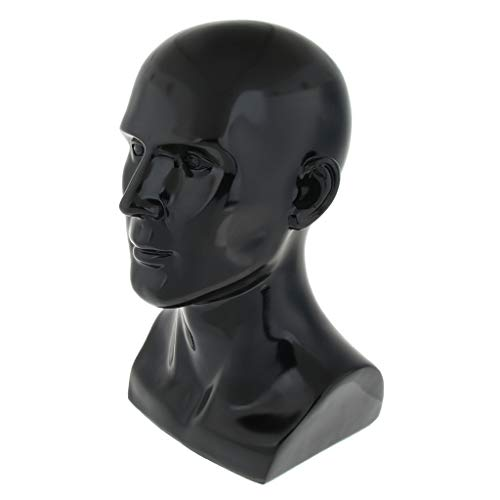 Resin Mannequin Head Für Displayhüte, Schmuck, Brillen, Schwimmbrillen, Schwarz