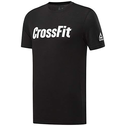 Reebok Herren Crossfit Read Tee Kurzärmeliges T-Shirt, Schwarz (Schwarz/Weiß), S