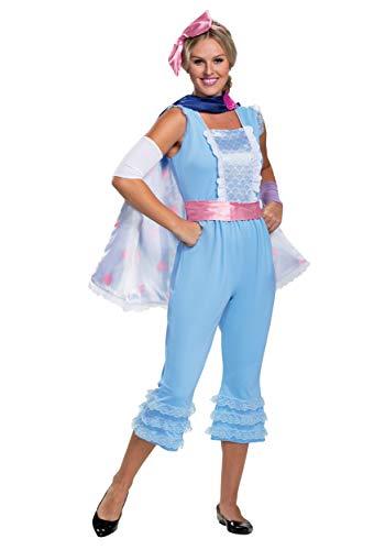 Disguise Disney Pixar Bo Peep Toy Story 4 Deluxe Women's Costume, Blue, M (8-10)