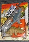 Land of the Lost Prehistoric Dinosaurs Triceratops & Muttaburrasaurus by Tiger Toys