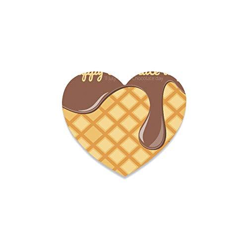 Posavasos de taza de coche delicioso chocolate dulce vino posavasos taza en forma de corazón los posavasos para apartamento, cocina, sala de bar, decoración