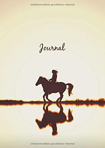Dot Grid Journal A4 Notizbuch: Blanko Heft Für Bullet Journaling | Dotted Notebook | 110 Punktraster Seiten | Pferd und Reiter