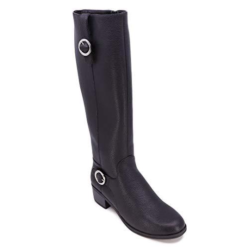 Nautica Women's Riding Boots Tall Shaft Knee High Dress Boot-Almarosa-Black-8.5