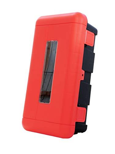 Feuerlöscher Schutzbox/Schutzschrank plombierbar aus Kunststoff mit Sichtfenster für 6 kg oder 6 Liter ABC Pulver-/Schaumlöscher geeignet