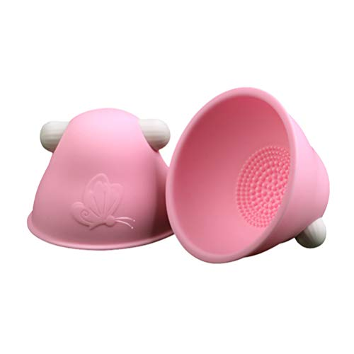 Artibetter 1 Pair Electric Breast Massager 10 Frequency Nipple Stimulate Pump Massager Adult Toy