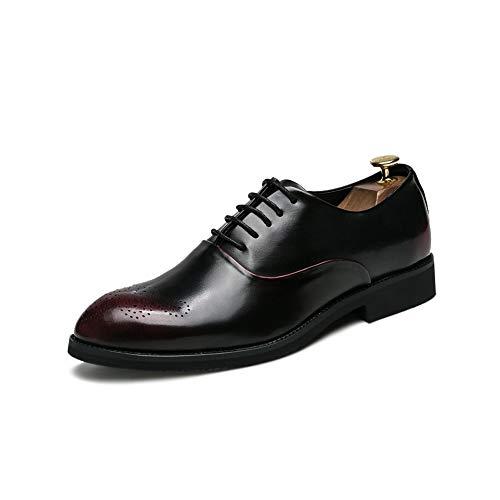 Candys house Zapatos Oxford informales cómodos y transpirables para hombre (color: rojo, talla: 8,5 UK)