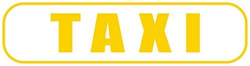 INDIGOS UG - Magnetschild Taxi 30 x 8 cm - fürs Auto und PKW´s - Magnetfolie für Auto/LKW/Truck/Baustelle/Firma