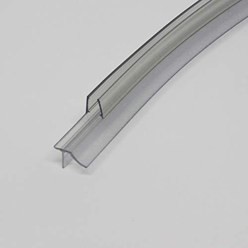 HEILER Wasserablaufprofil für gebogene Duschtür 6/8 mm Glas