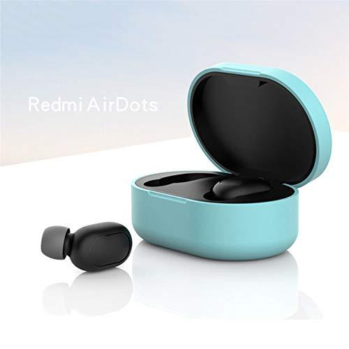 ETbotu beschermhoes gemaakt van siliconen voor Xiaomi Redmi Airdot TWS koptelefoon mode draadloos, Groen