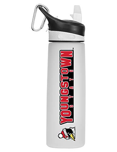 Youngstown State University Tritan Plastic Frosted Sport Bottle, Design-2 - White