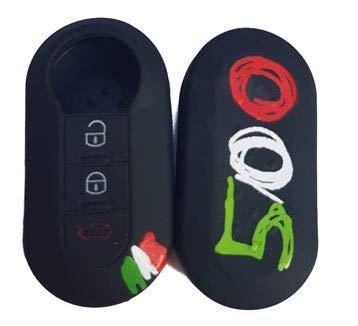 Tech11 Fiat - Protezione in Silicone per Telecomando Chiave Fiat - Fiat 500 - Panda (dal 2012) - Bravo - Punto - 500L - Lancia YPSILON (dal 2011 in Poi) - Delta - DOBLO\' - MUSA (500)