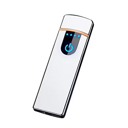 Hihey USB-aansteker, oplaadbaar, vlamloze aansteker, winddicht, wolfraam, plasma-aansteker voor rookoven, kaarsen, fluitje, outdoor, camping