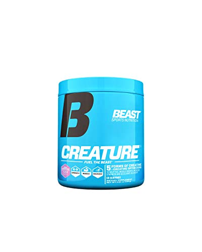 Beast Sports Nutrition Creature - Creatine Monohydrate – Fuel Muscle Growth – Muscle Builder – Keto Friendly – Muscle Recovery – Pink Lemonade 60 Servings