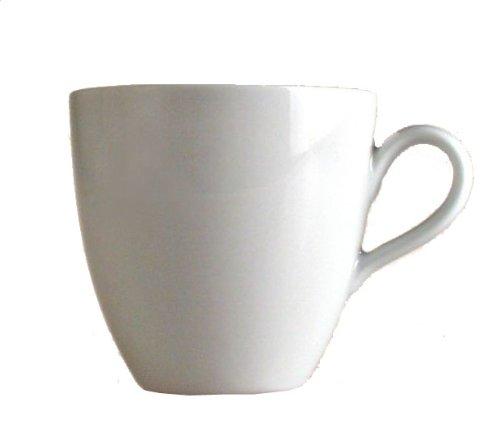 """Alessi Mami"""" Kaffee-Obertasse 6 Stück aus weißem Porzellan 8,0cm"""