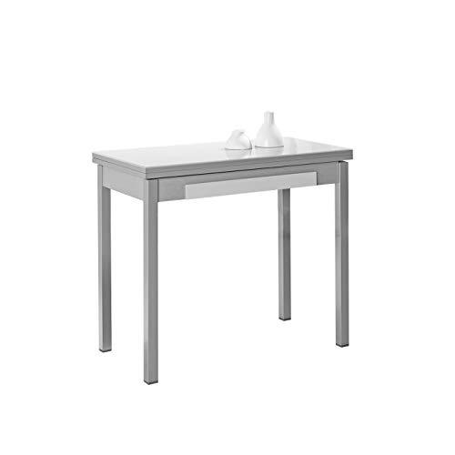 ASTIMESA Mesa de Cocina Tipo Libro Blanco 50x90cm