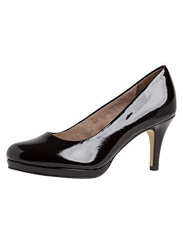 Tamaris Damen Klassische Pumps, Frauen Pumps,Touch It-Fußbett,Woman,Court,Shoes,Absatzschuhe,stöckelschuhe,Abendschuhe,Black PATENT,39 EU / 5.5 UK